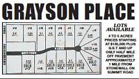 Only 2 lots left in rural subdivision near Stonewall