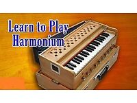 learn basic harmonium and Indian classical music