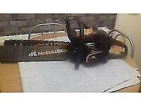 chain saw in mint condition only used few times 140 pounds cost 380