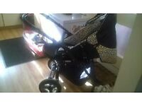 zipp pushchair , pram , buggy , limited edition suitable from birth excellent condition £ 30