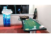 CASINO PARTY HIRE BLACKJACK ROULETTE DICE/CRAPS POKER GAMES
