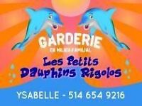 Garderie familial place disponible