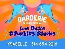 Garderie familial place dispinible