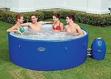 Drop in Price Bestway Blue Lay-Z-Spa Rigid Wall Palm 6-8 Person Melbourne CBD Melbourne City Preview