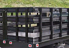 Flat  deck Truck or trailer stake sides