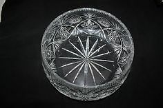New Lead Crystal Bowl, Candy Tier and Plates
