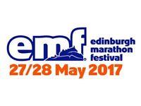 Edinburgh Marathon race number/ place