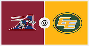Edmonton Eskimos vs Montreal Alouettes - COVERED Lower bowl