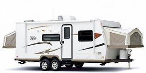 RV Trailer for Rent-- Rockwood Roo 21ss Hybrid with large slide