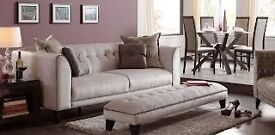DFS VISTA SOFA, chairs, footstool and chaise longue