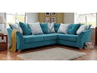 Cream Flourish Right Hand Corner Sofa