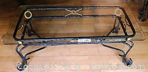 """Elegant Glass and Iron Coffee Table Pick up in Time-slot """"C"""" ONLY"""