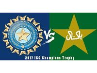 INDIA V PAKISTAN CHAMPIONS TROPHY GOLD - 4 TICKETS - 4th June 2017 - £250 each
