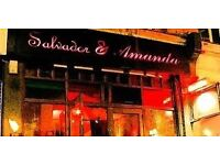 Bartenders and floor servers wanted for Spanish themed late venue in Central London!