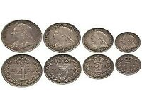 OLD ENGLISH SILVER THREEPENCES COINS WANTED BY COLLECTOR