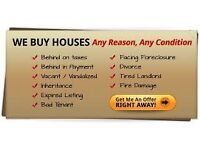 We buy any houses in any condition