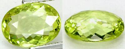 Pakistan 100% Natural Lime Green Chrysoberyl Cushion Cut Gemstone 1.27Ct
