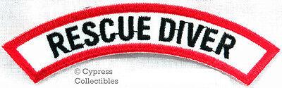 RESCUE DIVER CHEVRON - SCUBA DIVING iron-on DIVE PATCH embroidered applique
