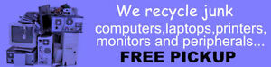 Recycle any defective non-working laptops desktops monitors etc