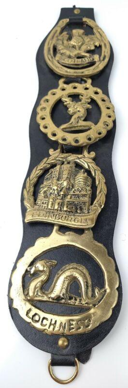 Vintage Horse Brass Harness Medallion - 4 Fine Thistle Scotland