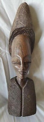 EXCELLENT AFRICAN CARVED HARDWOOD FIGURINE