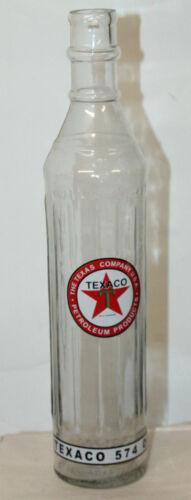 VINTAGE STYLE TEXACO MOTOR OIL GLASS BOTTLE 15