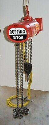 Coffing Cah4015a 2 Ton Air Hoist 12 Chain Drop 2ton 15fpm 4000 Lb