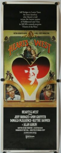"Hearts of the West 1975 Original Insert Movie Poster 14"" x 36"""