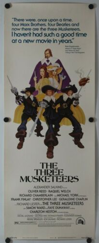 "The Three Musketeers 1974 Original Insert Movie Poster 14"" x 36"""