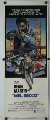 "Mr. Ricco 1975 Original Insert Movie Poster 14"" x 36"""