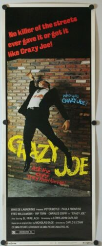 "Crazy Joe 1974 Original Insert Movie Poster 14"" x 36"""