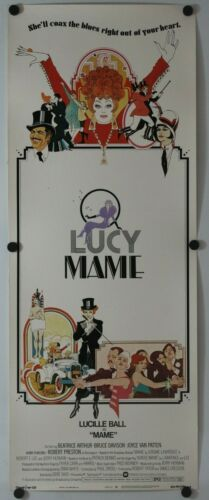 "Mame 1974 Original Insert Movie Poster 14"" x 36"""