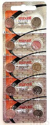 10 Original Maxell LR1130 AG10 389 390 189 L1131 Alkaline Batteries
