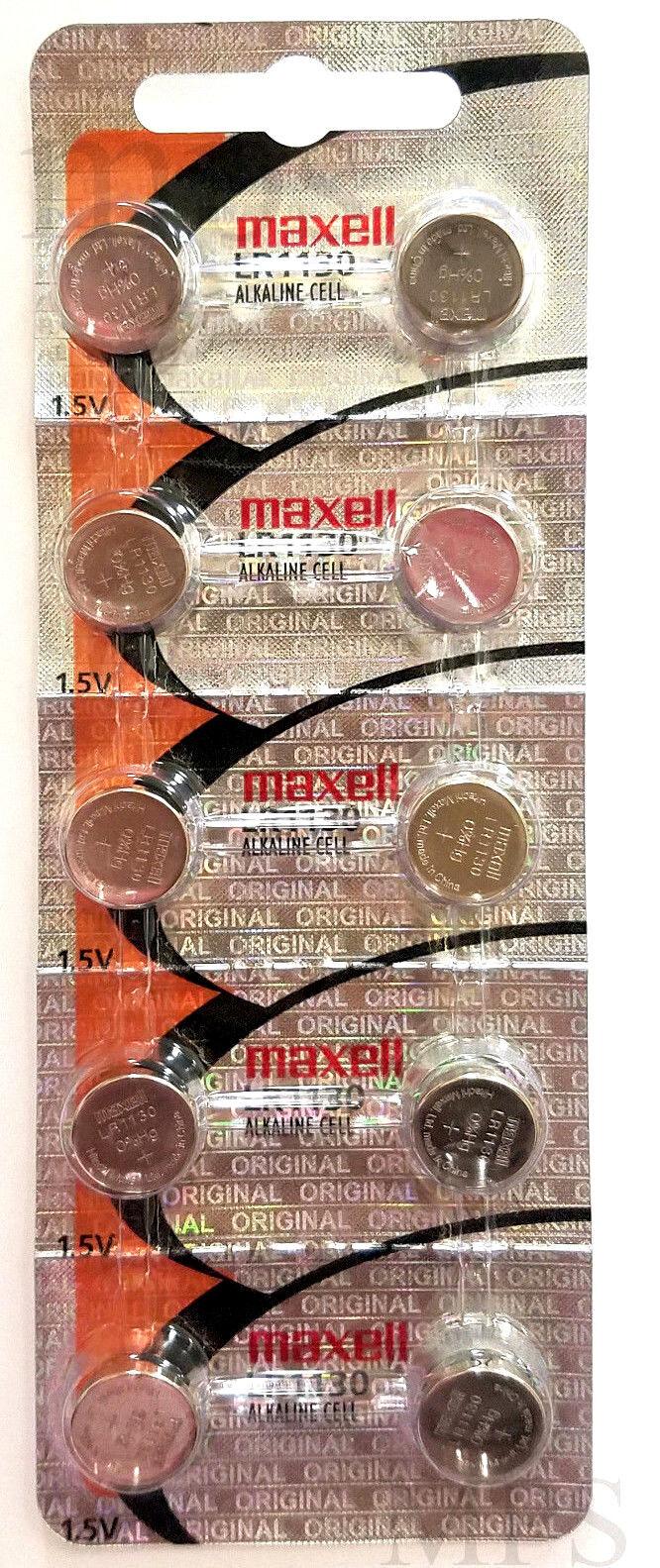 Купить Maxell LRLR1130 AG10 189 L1131 389 V10GA 1.5V - 10 Original Maxell LR1130 AG10 389 390 189 L1131 Alkaline Batteries Hologram