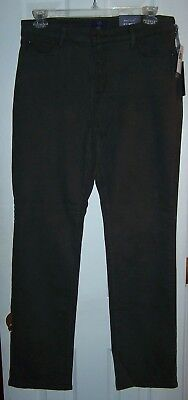 NWT NYDJ Not Your Daughters Jeans Marilyn Green Thorn Straight Leg Petite
