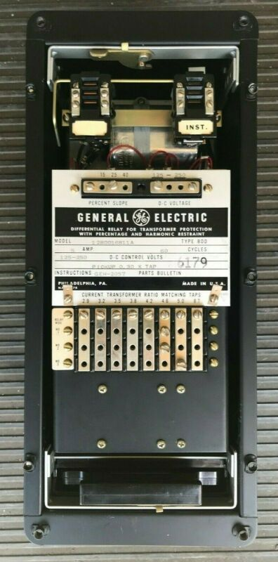 General Electric DIFFERENTIAL FOR TRANSFORMER PROTECTION GE FRAME 5 LA