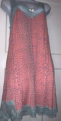 Honeydew Intimates LUXE Soft Sleep Dress Pink Stone Rose Leopard Large Dillards