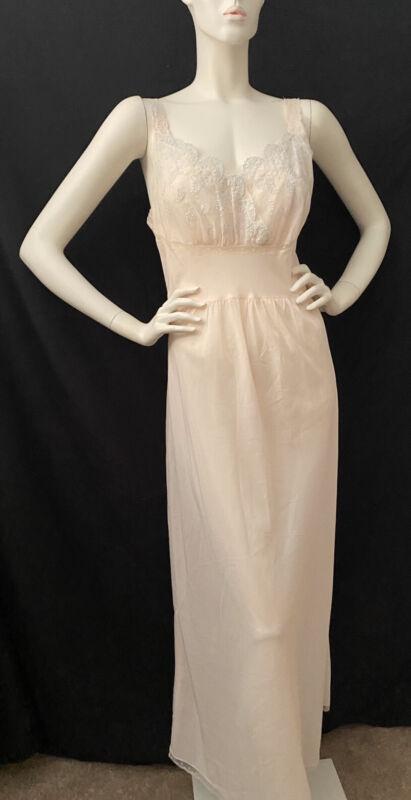 Vintage Godfried Sweatheart Pink Nightgown Sz 36