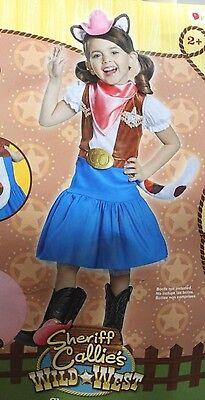 2t Sheriff Callie Kostüm Wilder Westen Disney Junior Kleinkind Mädchen Katze Neu