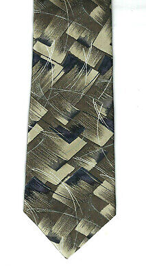 Stringbeans Polyester Tie -  Black, Dark Olive Green, Beige, Abstract, - Dark Green Polyester Ties
