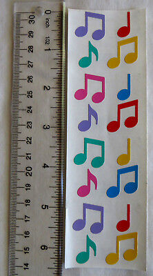Mrs Grossman MUSIC NOTES, MULTI - Strip of Multi Colored Music Notes -