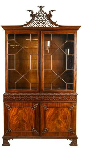 Baker Stately Homes Collection Penhurst Chinese Chippendale Carved China Cabinet