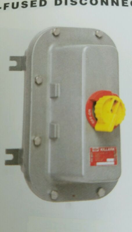 Killark B7NFD21A Non Fused 100A 600V Disconnect Safety Switch HAZARDOUS  LOC.