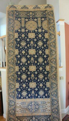 Antique c1870 French Large Indigo Block Printed Wall Panel~Ethnic~Persian~81X52
