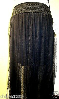 Stretch Tulle Skirt (SOLD OUT NWT Free people Black tulle maxi skirt Size S/M stretch waist)