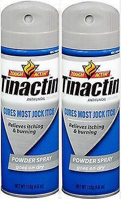 (Tinactin Antifungal Spray Powder Jock Itch - 4.6 oz ( 2 pack )  BLUE)