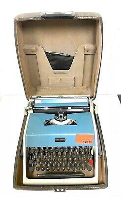 Vintage Olivetti Underwood 21 ~ Blue Manual Typewriter With Original Case