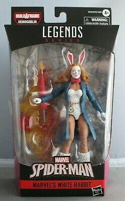 MARVEL LEGENDS Spider-Man Marvel White Rabbit Demogoblin BAF WAVE Action Figure