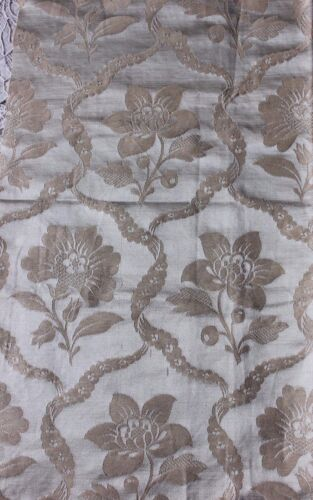 "French Antique 19thC Silk Brocaded Floral Frame Fabric Sample~20""LX 21""W"