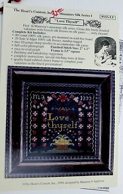 LOVE THYSELF'  stitch kit from The Hearts Content Inc.  20014  Kit -